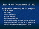 clean air act amendments of 1990