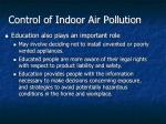 control of indoor air pollution2