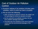 cost of outdoor air pollution control1