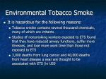 environmental tobacco smoke1