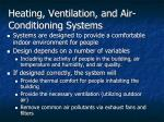 heating ventilation and air conditioning systems