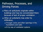 pathways processes and driving forces