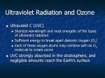 ultraviolet radiation and ozone1