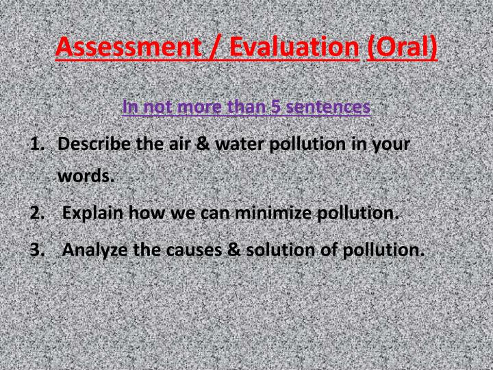 Assessment / Evaluation
