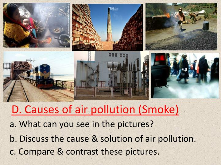D. Causes of air pollution (Smoke)