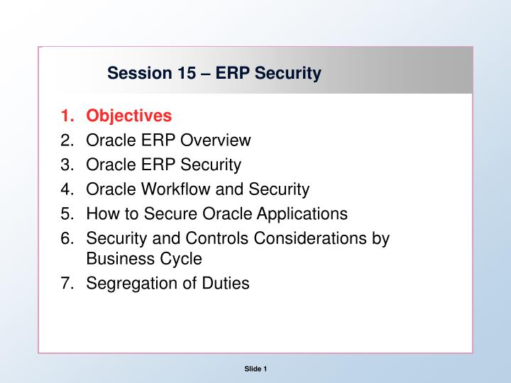 Ppt Session 15 Erp Security Powerpoint Presentation