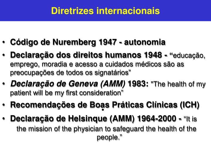 Diretrizes internacionais