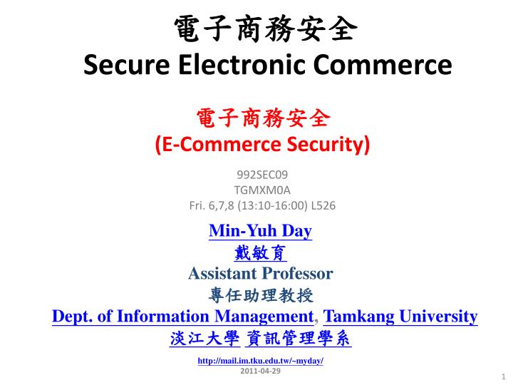 secure electronic commerce n.