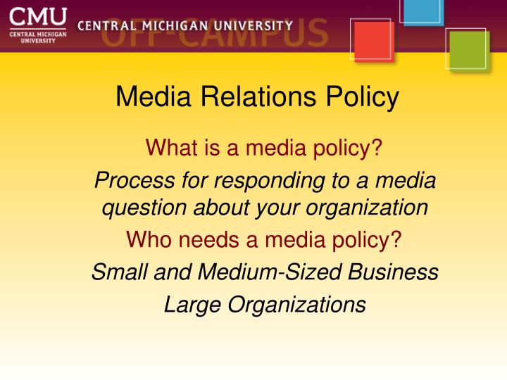 Media Relations Policy