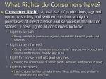 what rights do consumers have