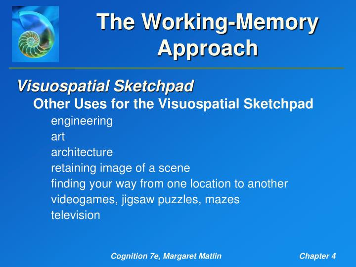 The Working-Memory Approach