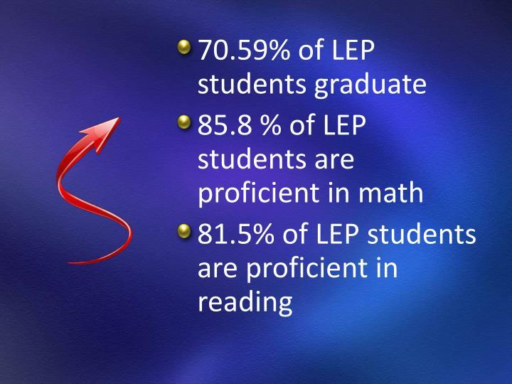 70.59% of LEP students graduate
