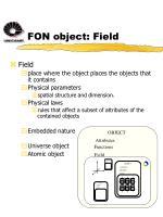 fon object field