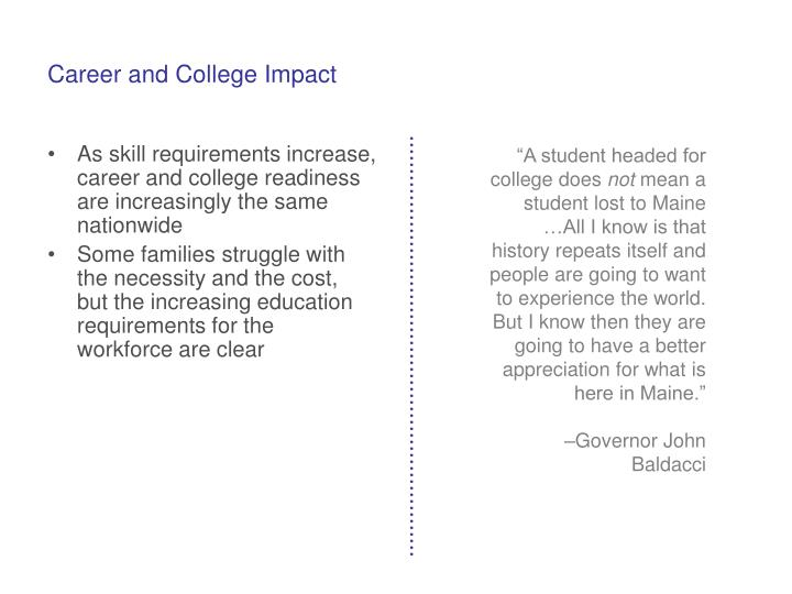 Career and College Impact