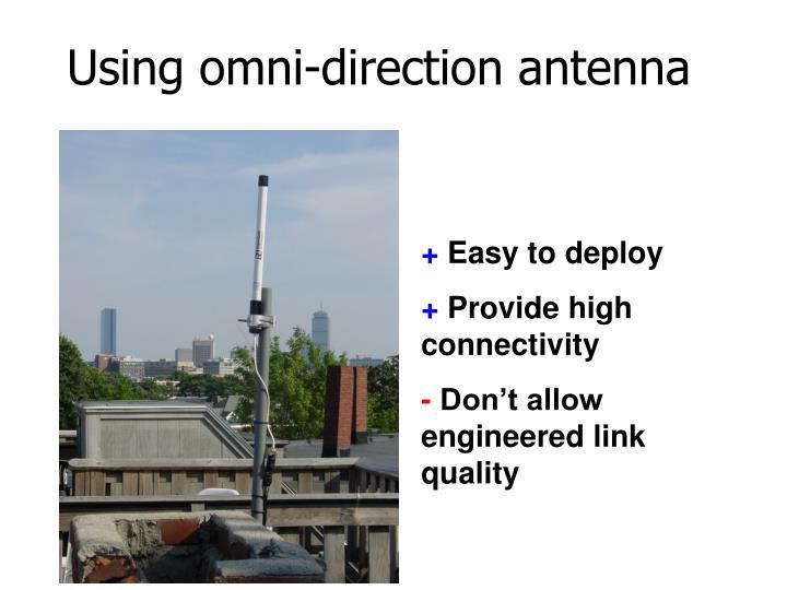 Using omni-direction antenna
