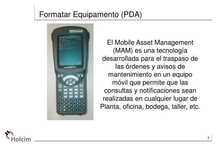 Formatar Equipamento (PDA)