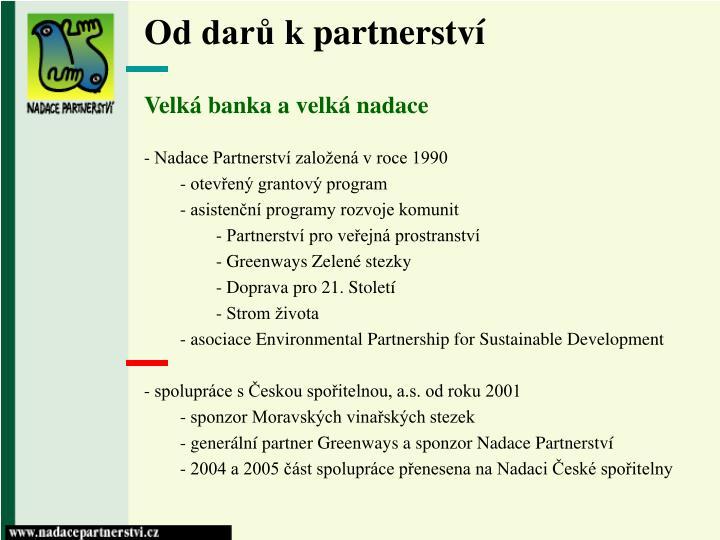 Od dar k partnerstv1