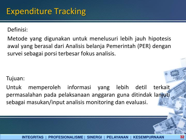 Expenditure Tracking