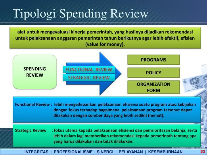 Tipologi Spending Review