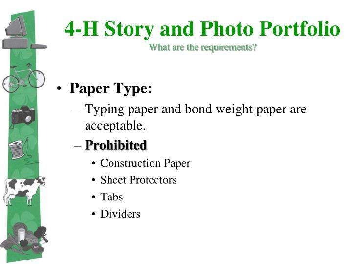 4-H Story and Photo Portfolio