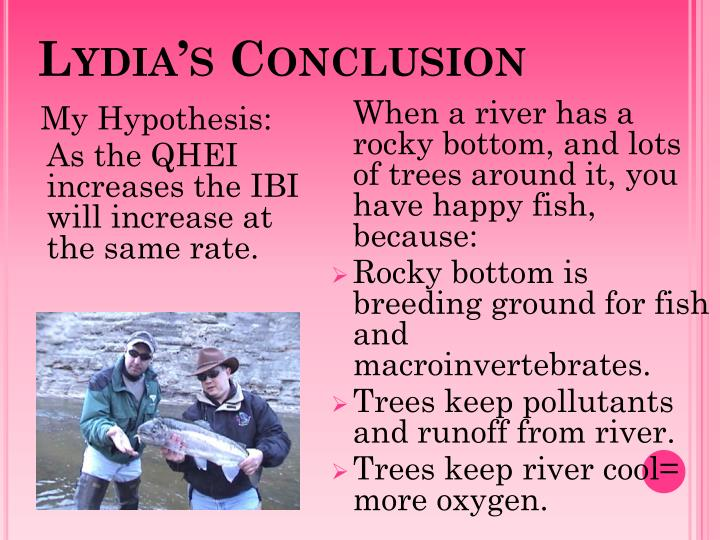 Lydia's Conclusion