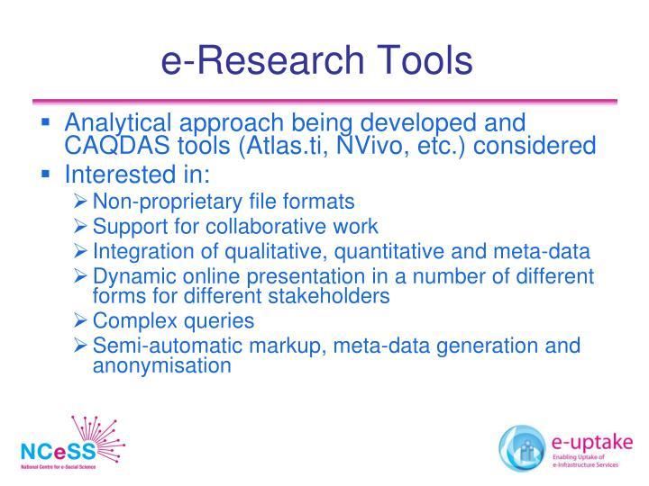 e-Research Tools