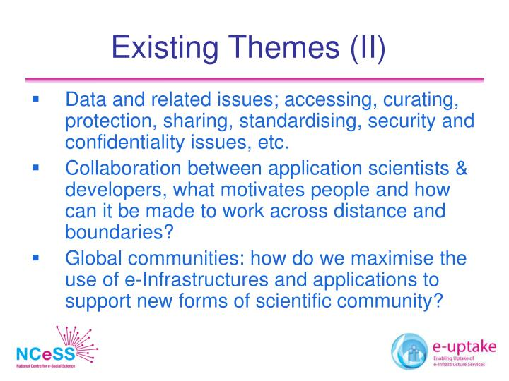 Existing Themes (II)