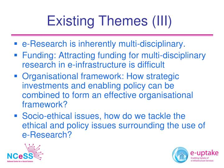 Existing Themes (III)