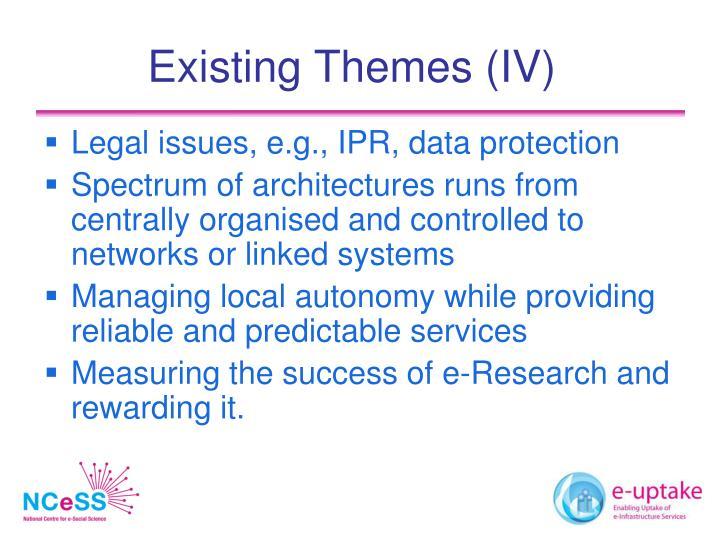 Existing Themes (IV)