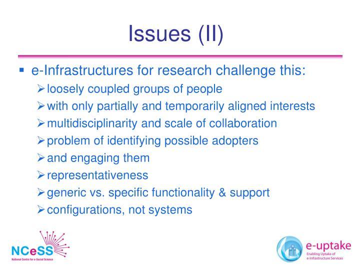 Issues (II)