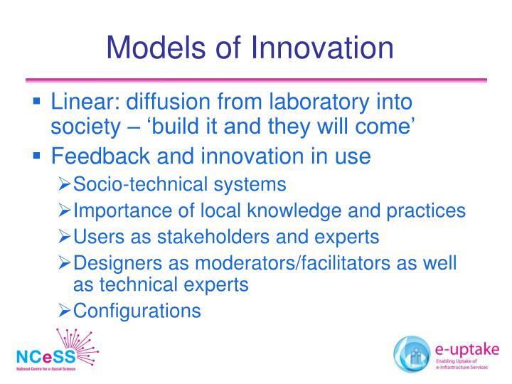 Models of Innovation