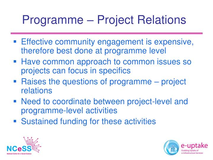 Programme – Project Relations