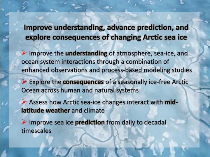 Improve understanding, advance