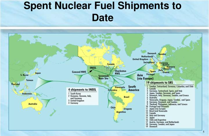 Spent Nuclear Fuel Shipments to Date
