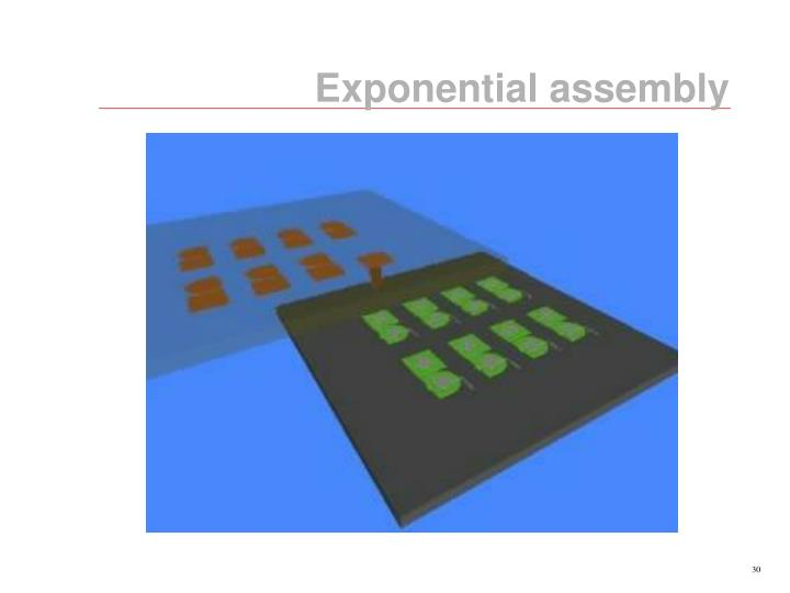 Exponential assembly