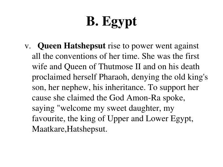 B. Egypt