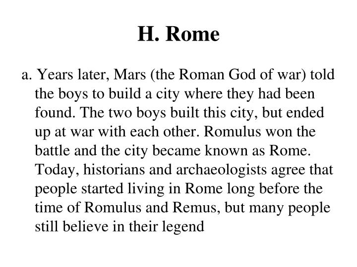 H. Rome