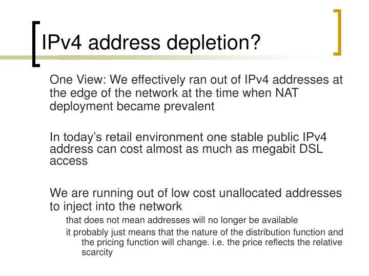 IPv4 address depletion?