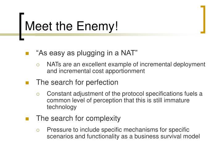 Meet the Enemy!