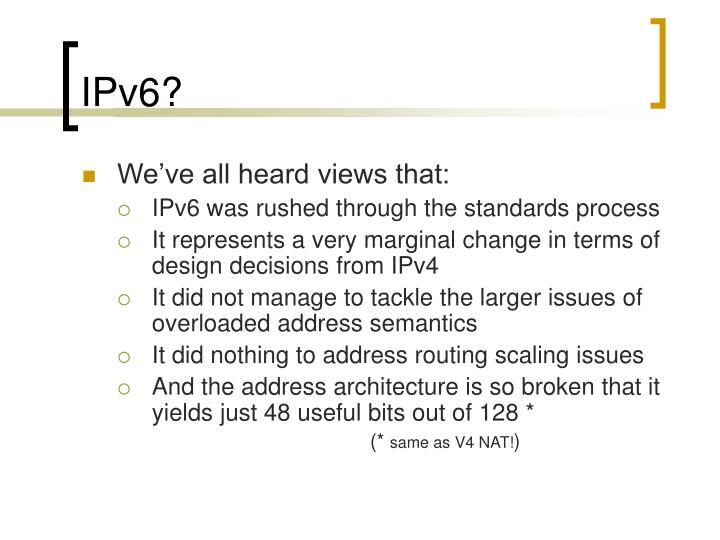 IPv6?