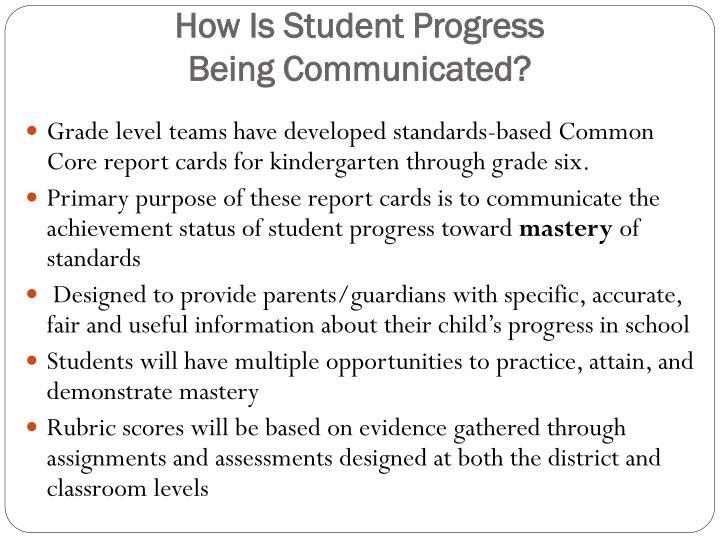 How Is Student Progress