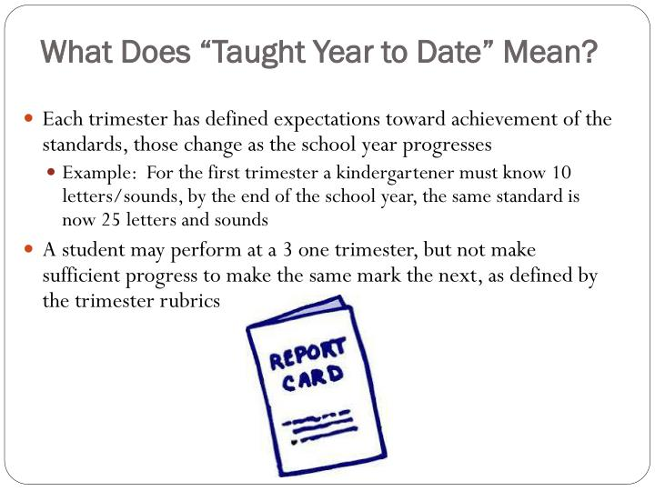 """What Does """"Taught Year to Date"""" Mean?"""