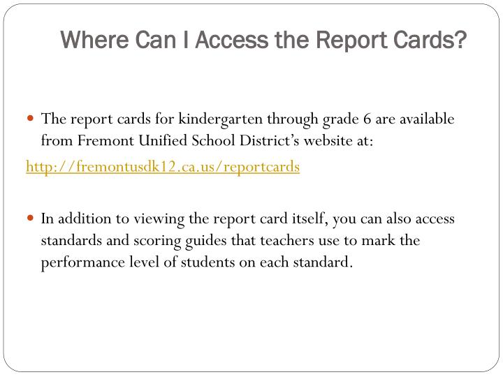 Where Can I Access the Report Cards?