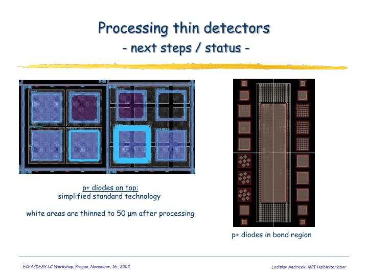 Processing thin detectors