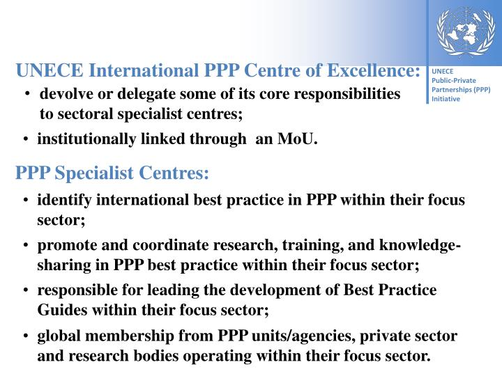 UNECE International PPP Centre of Excellence: