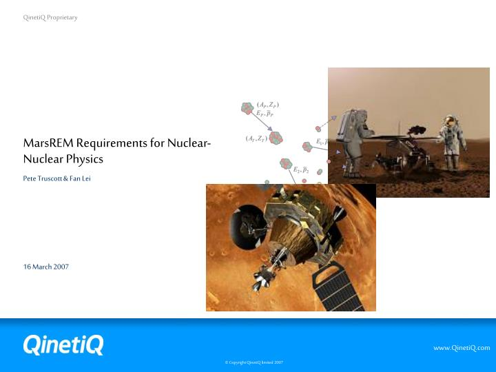 marsrem requirements for nuclear nuclear physics n.