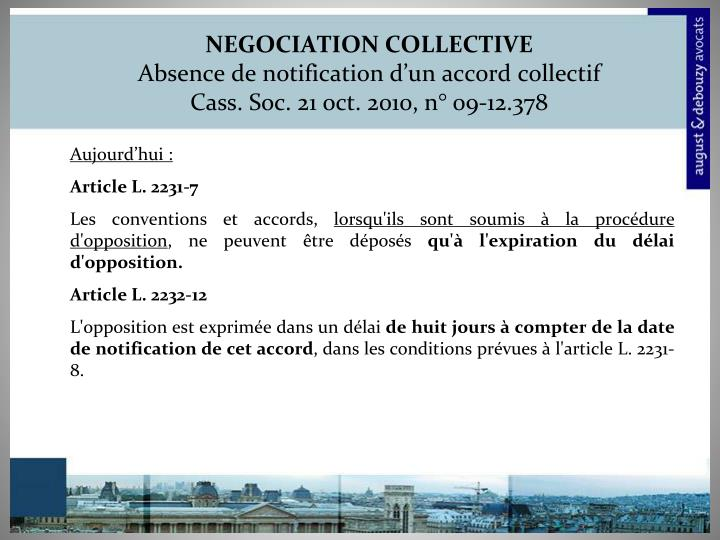 NEGOCIATION COLLECTIVE