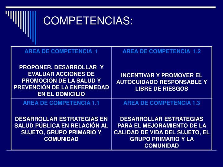 COMPETENCIAS: