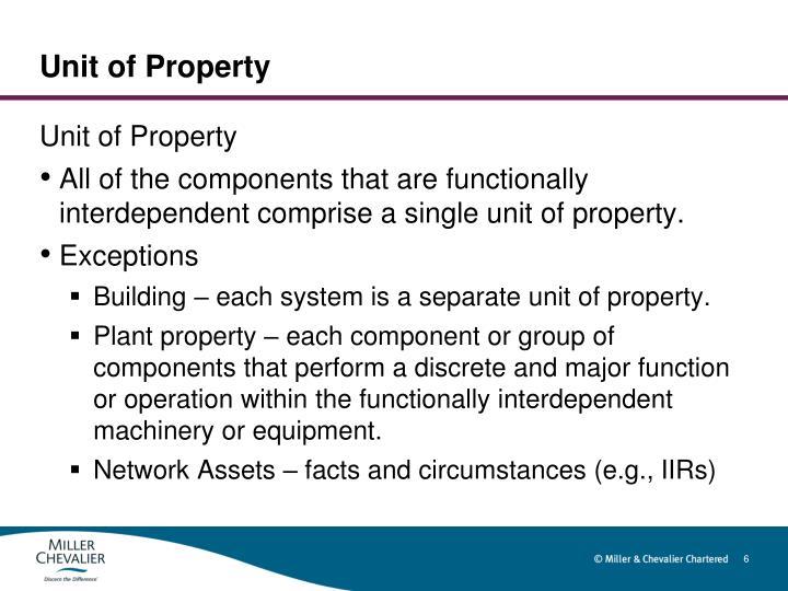 Unit of Property