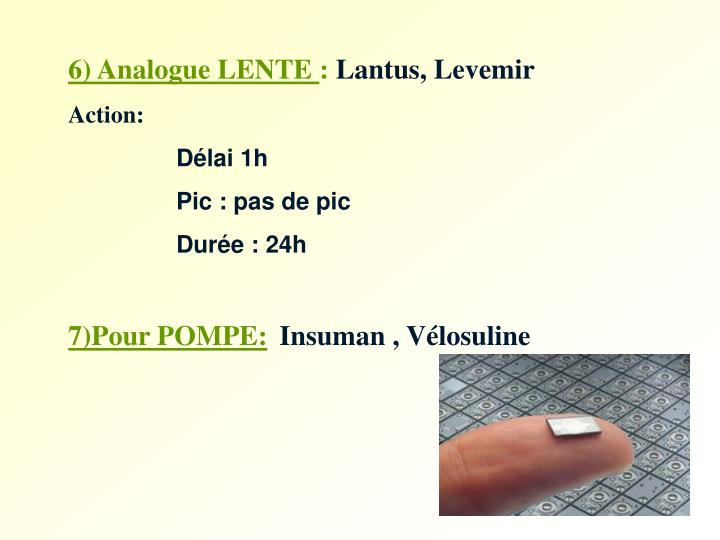6) Analogue LENTE